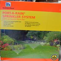 Port-A-Rain spinkler system, attach to any standard garden hose - 3 sprinkler hears.