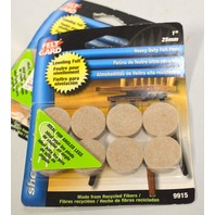 "Shepherd #9915 1"" Heavy Duty Felt Pads-Self leveling felt pads - no more wobble!"