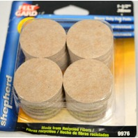 "Shepherd #9976 Felt Gard 1 1/2"" Round Self Stick Heavy Duty Felt Pads."