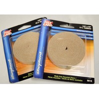"Shepherd #9818 - 1/2"" x58"" roll of Heavy duty Self-Stick Felt Pads. 2 Packs."