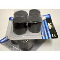 """Shepherd #9129 - 1 1/8"""" Rubber Leg Tip 2 pk - Black.  2 packs of 2."""