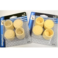 "Shepherd #9121 - 1"" Rubber Leg Tip-4 pk.  Off White - 2 packages"