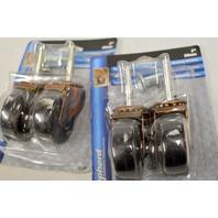 "Shepherd #9345-2"" Ball Bearing Stem Caster-set of 4-80 lb cap. ea. Brushed Bronze."