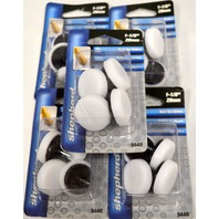 "Shepherd #9448-1 1/8"" Nail-On Glides-White 4 pack.  5Packs."
