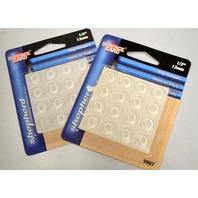 "Shepherd #9967 - Surface Gard 1/2"" Clear Vinyl Round Bumpers 16 per card. 2 cards."