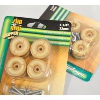 "Shepherd #3692 - 1 1/4"" Non-Slip Furniture Pad ""Gripper"" 8 per pack - 2 packs."