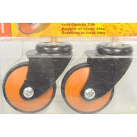 "Shepherd #3575  2 3/8"" Designer Tapered Wood Wheel Casters-2 Pk. 75lb cap per."