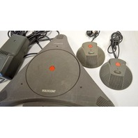 Polycom SoundStation EX 2201-03309-001, Power Supply and 2 speakers.