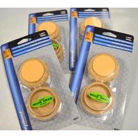 Shepherd #9057 Wood Grain Non Slip Caster Cups for Wood Floors 4 per pack. 4pks.