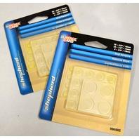 Shepherd #9969HS Pack of 36 Clear Vinyl Bumpers- 3 sizes -  2 packs.