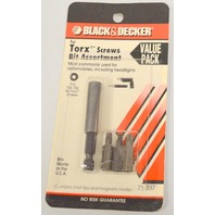 Black & Decker for Torx Screws Bit Assortment #71-337.