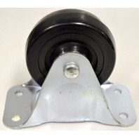 "Albion -Faultless 4"" Dia x 1 5/16"" W, Rigid Plate Mount Caster - 5"" overall ht"