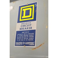 Square D-Q2-225-S, 200 Amp Circuit Breaker-2 Pole-Server A1, Max Rating 240 VAC