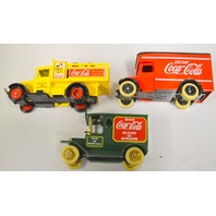 3 Lledo/Matchbox Coca Cola Model Trucks - Made in England, DG20,DG6-8-33,DG16