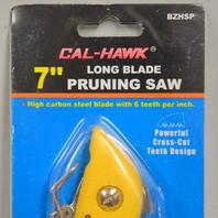 "Cal Hawk 7"" Long Blade Pruning Saw #BZHSP-Powerful cross cut teeth."