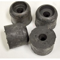 "Heavy Duty Rubber Equipment Foot by Moller:Hole 5/8"", 1 3/4"" Tall, 2"" Dia. Set of 4."