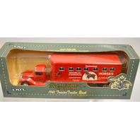 Anheuser Bush 1941 Tractor Trailer Bank by ERTL - 1/43 scale Locking coin bank.