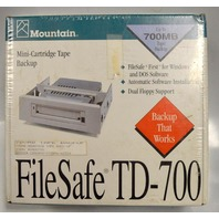 Vintage FileSafe TD-700 Mini-Cartridge Tape Backup for windows and DOS -Dual Floppy