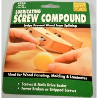 Lubricating Screw Compound - Net Weight .7 oz - 2 packs. Ideal for wood paneling.