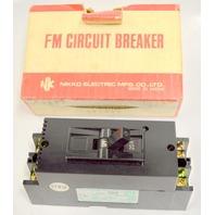 Nikko FM Circuit Breaker Type SK32,AC, 460V, 2.5kA, Mfg #8706
