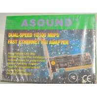 Asound #PG2225025807 Dual speed 10/100 MBPS Fast Ethernet PCI Adapter