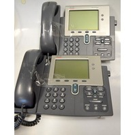 Cisco IP Phone #7941 - 5 phones with bases and handsets.