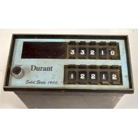 Durant 1900-512 51900-400 Sp;od State 1900- 115VAC, 50/60 Hz Counter