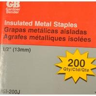 """Gardner Bender #MSI-200J Insulated Metal Staples - 1/2"""" - 200 per box."""