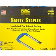 "King Safety Staples 1 1/4"" x 9/16""- #70114 - Insulated for safety"
