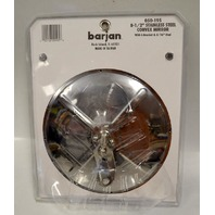 "Barjan #050-195 - 8 1/2"" Convex Mirror- Stainless Steel w/L Bracket & 5/16"" Stud"