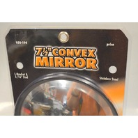 "Barjan #050-194 7 1/2"" Convex Mirror - Stainless Steel - w/L bracket and 5/16"" stud"