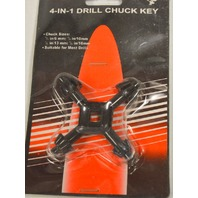 "4-In-1 Drill Chuck Key - 1/4"", 3/8"" , 1/2"" and 5/8"". Suitable for most drills"