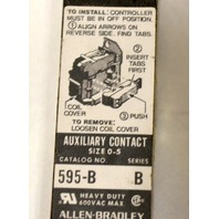 Allen Bradley 595B Auxiliary Contact Block - Size 0-5