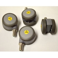 "2"" Dual Whl Caster-TRP Wheels,3/8-16x3/4"" SS Stem. 4 pc set - #104673m"