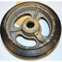 """Heavy Duty Rubber on Cast Iron Caster Wheel 6"""" x1.5"""" x 3/4"""" #6325 - 1 pc."""