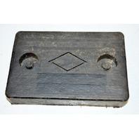 "Solid Rubber Bumper Pad 6"" x 4"" x 1"" - #6029"