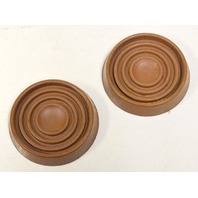 "1 Lot of 65 sets of 4 - 1.75"" dia.round caster cups (260 piieces in the lot) Color Brown."