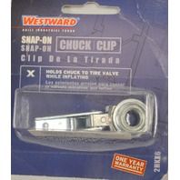 Westward Snap-On Clip-Holds chuck to tire valve#2HKX6