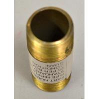 """Anvil Steel Pipe Fitting, Nipple, 3/4"""" x 2 1/2"""" Standard Steel -Yellow Zinc - 25 pcs"""