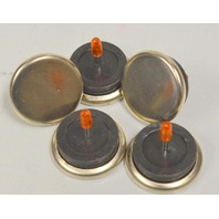 "nail On Floor Glides 1 3/16"" Dia. Metal w / rubber washer - 24 per box."