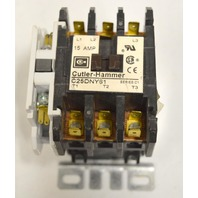 Cutler-Hammer #C25DNY61 15A,50/60Hz, 24V Electrical Contactor