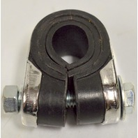 "Chrome Clamp-7/8"" wide w/Rubber bushings - hole as small as 1/2"""