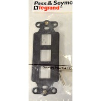 Pass & Seymour KS326-BK Decorator Frame - 3 Port - Black