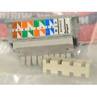 Pass & Seymour 2A145-CC6-G Single Port  RJ45, Cat 6, T568 A/B Univ. Wiring -10 pc