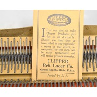 "Clipper Wire Hooks for Baler Belts used with Vise Lacer Box of 7 - 12"" long."