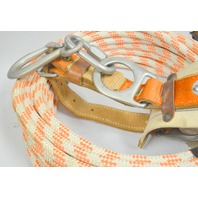 """Klein Buhrke Safety Belt #5443M + 5/8"""" x 60' Rope - Used"""