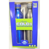 Reduce Cold 1 -28 oz Stainless Steel Insulated Bottle - 2 pk. - Stays cold 24 hours!
