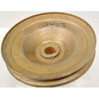 "5 3/8"" x 5/8"" Pressed Steel Pulley - New - Has some rust"