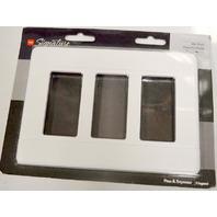 Pass & Seymour  # 0800-SWS263-WCC10  Straight Style 3 Gang White Wall Plate.