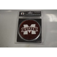 Mississippi State Chrome Trailer Hitch Cover with universal brackets.